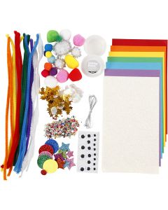 Crafting assortment, Rainbow, 1 pack