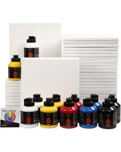 Art School, primary colours, 1 set