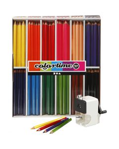Colortime colouring pencils, lead 5 mm, assorted colours, 1 set