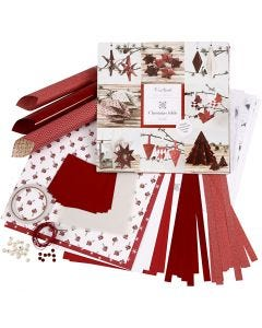 Weaving and Folding Decoration Kit, red, white, 1 set
