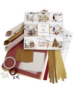 Weaving and Folding Decoration Kit, gold, red, 1 set