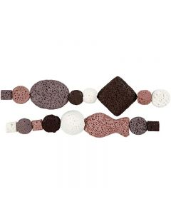 Luxury Bead Harmony, D: 6-37 mm, hole size 2 mm, antique pink (25), 1 set