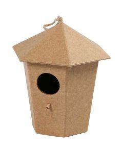 Bird House, H: 11 cm, size 11x9 cm, 1 pc
