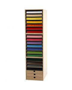 Card & Storage Units, H: 100 cm, A4, 210x297 mm, 180 g, assorted colours, 1 set