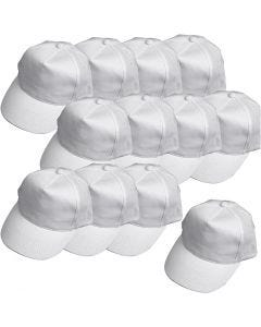 Cap, size 49,5-56 cm, white, 12 pc/ 1 pack