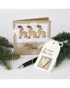 A Card with Reindeer