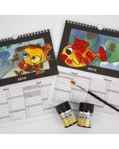Calendar with great motives and changeable background