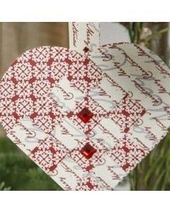 A woven Vivi Gade heart