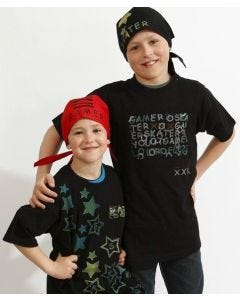T-Shirts and Bandanas with Stamp Printing