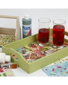 A lovely Tray with Decoupage