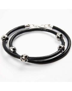 A Leather Bracelet with Fashion Links