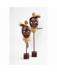 African Masks on a Stick