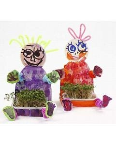 Cheerful spring-fresh cress children