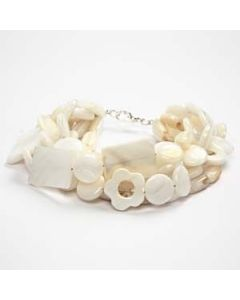 A Chain and Bracelet with Pearl Shells