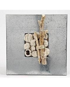 A Beach Icon made in a zinc frame