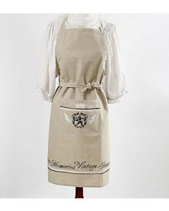 Apron with stencil print