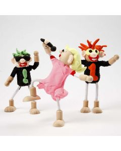 Rock Stars made from Flexi Figures and Silk Clay