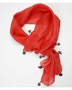 Jacquard woven silk scarf