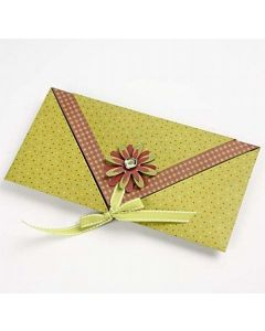 A folded envelope card