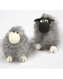 Sheep from Wool and Silk Clay