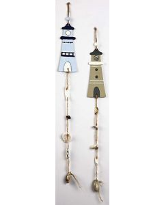Hanging Decorations with Lighthouse and Shells