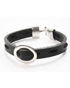 A Leather Bracelet with a Jewellery Buckle