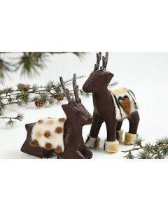 Reindeer with a Felt Blanket