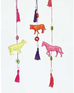 Bohemian Farm Animals on a String