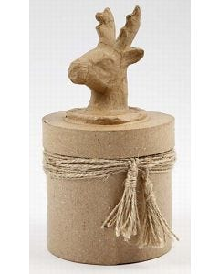 Deer on a Round Box with Tassels