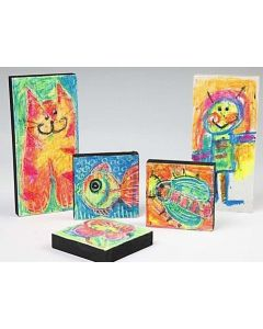 Wood Icons with Oil Pastels