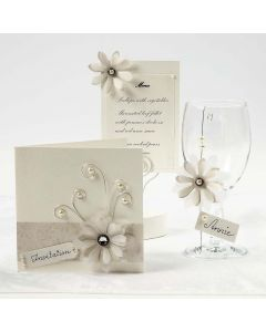 Cream Cards with Vellum Paper Flowers