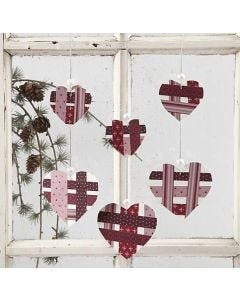 Punched-Out Hearts with Weaving Paper Strips