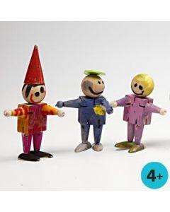 Elastic Wooden Figures