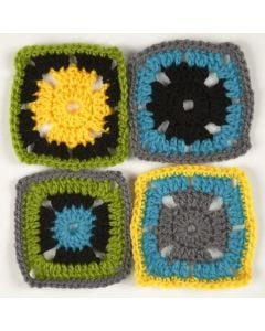 Crocheted Retro Squares