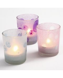 Candle Holders with Glass Frost