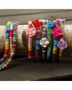 Bracelets with Beads on Elastic Beading Cord