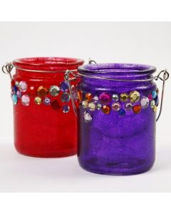 Candle Holders with Rhinestones