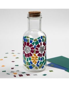 A Glass Bottle decorated with Color Decor