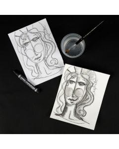 Lyra Water-Soluble Graphite Crayons