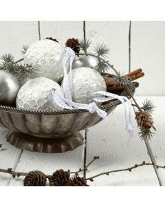 Christmas Baubles with Mosaic Tiles