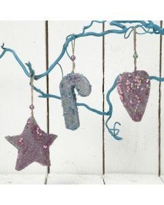 Glittery Christmas Hanging Decorations