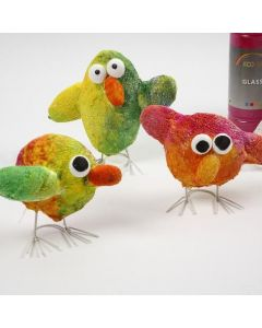 Easter Chicks made from Gauze Bandage and Polystyrene
