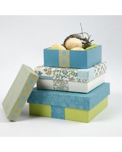 Papier-Mâché Boxes with Handmade Paper