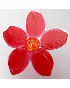A Flower painted on a Hard Foil Sheet
