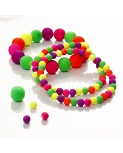An Elastic Bracelet with Neon Beads