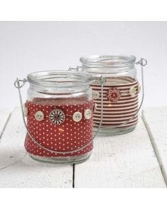 Lanterns with a Vivi Gade Design Fabric Waist Band