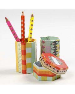 Masking Tape on Cardboard Items