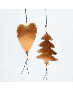 A Hanging Decoration from Copper Metallic Foil Card