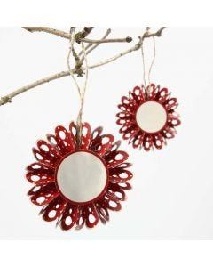 A Punched-Out Rosette made from Vivi Gade Design Paper