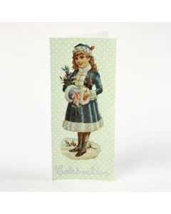 A Greeting Card with Decoupage and Vintage Die-Cut